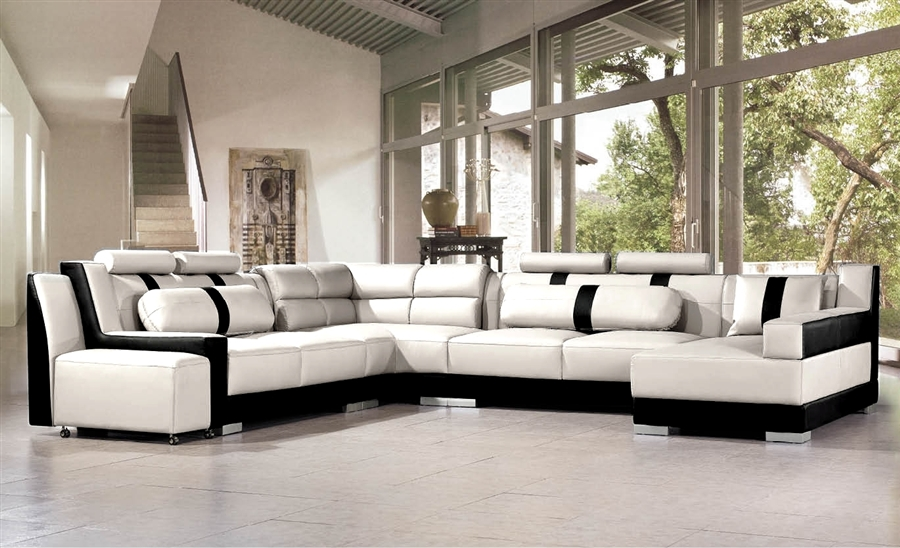 Modern Italian Design Leather Sectional Sofa Cp 3335