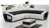 Contemporary High-Back Sectional Sofa with Matching Ottoman CP-4090