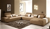 Monte Contemporary Leather Taupe Sectional Sofa CP-505