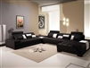 Monte Contemporary Leather Black Sectional Sofa CP-505-BK