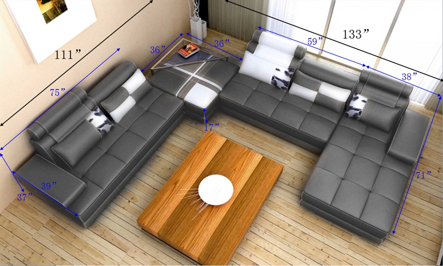 List Price $3500.00 : modern gray sectional - Sectionals, Sofas & Couches