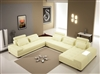 Monte Contemporary Leather Yellow Sectional Sofa CP-505-YEL