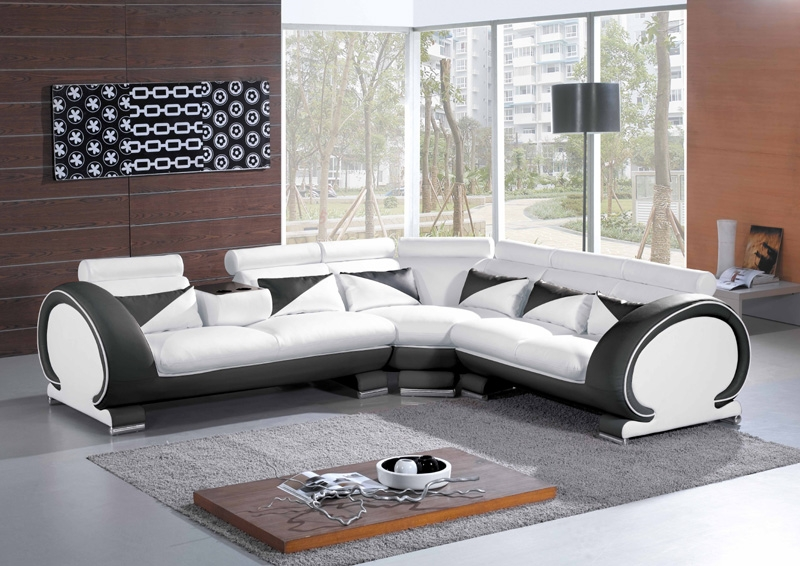 Modern Italian Leather Sectional Sofa CP-7392