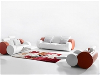 Ultra Modern Italian Leather Sofa Set CP-7804