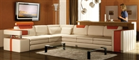 Vista Modern Italian Design Leather Sectional Sofa CP-9001-CO