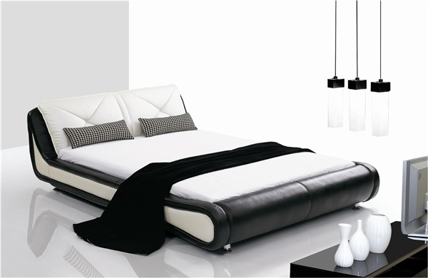 Metropolitan Curved Black and White King Bed CP-B1102
