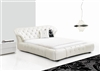 White Montecito Leather Bed CP-B1106