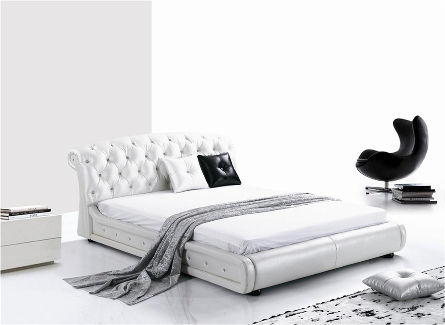 . Curved Montecito Leather Bed