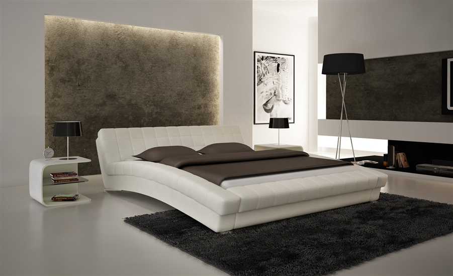 Modern Platform Bedroom Sets white hd contemporary platform bed cp-b1112-wh