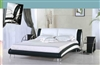 Modern Italian Black and White Leather Bed CP-B1133