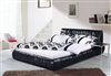 Black Drag Leather Bed CP-B1161