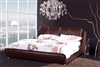 Brown Leather Pillowtop Bed CP-B1162