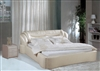 Retro-Metro Beige Bunched Leather Bed CP-B1165