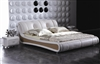 Contemporary Eggshell Bed CP-B1170