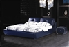 Blue Etriende Leather Bed CP-B1173