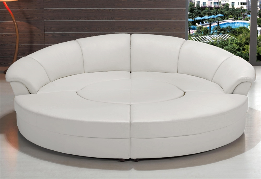 modern circle sectional sofa set with table white tos lf 6722 white rh contemporaryplan com circular sectional sofa- circle rounded sectional sofa