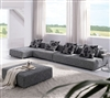 Modern Zebrano Fabric Sectional Sofa TOS-ANM308-SP