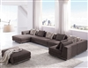 Contemporary Modern Brown Fabric Sectional Sofa TOS-ANM9708-2