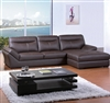 Contemporary Chocolate Bonded Leather Sectional Sofa TOS-BVT-B2177