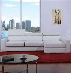 Modern White Bonded Leather Sectional Sofa TOS-BVT-B2186