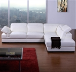Modern White Leather Sectional Sofa TOS-BVT-B2199
