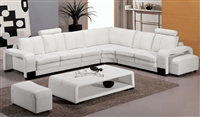 Modern White Leather Sectional Set TOS-FY560-3-WH