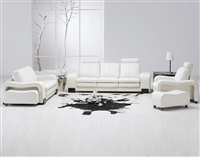 White Leather Living Room Set TOS-FY560-4-SP