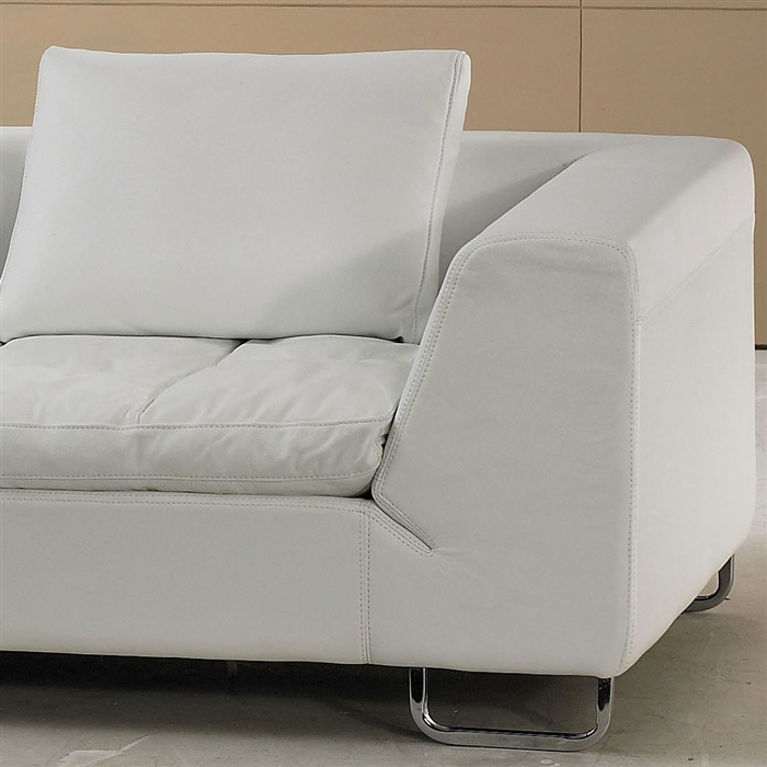 List Price $2600.00 : sectional white leather sofa - Sectionals, Sofas & Couches
