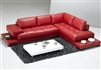 Modern Red Leather Sectional Sofa TOS-FY633-1