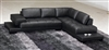 Modern Black Leather Sectional Sofa TOS-FY633-1-BL