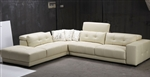 Modern Beige Leather Sectional Sofa TOS-FY702-2