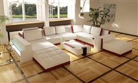 Contemporary Leather Living Room Furniture FY7494