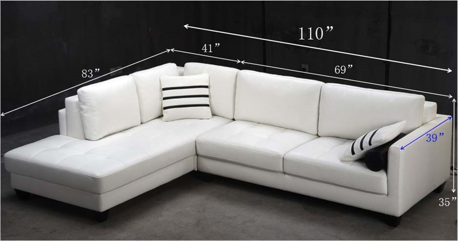 White Leather Sectional Sofa Tos Fy762 2