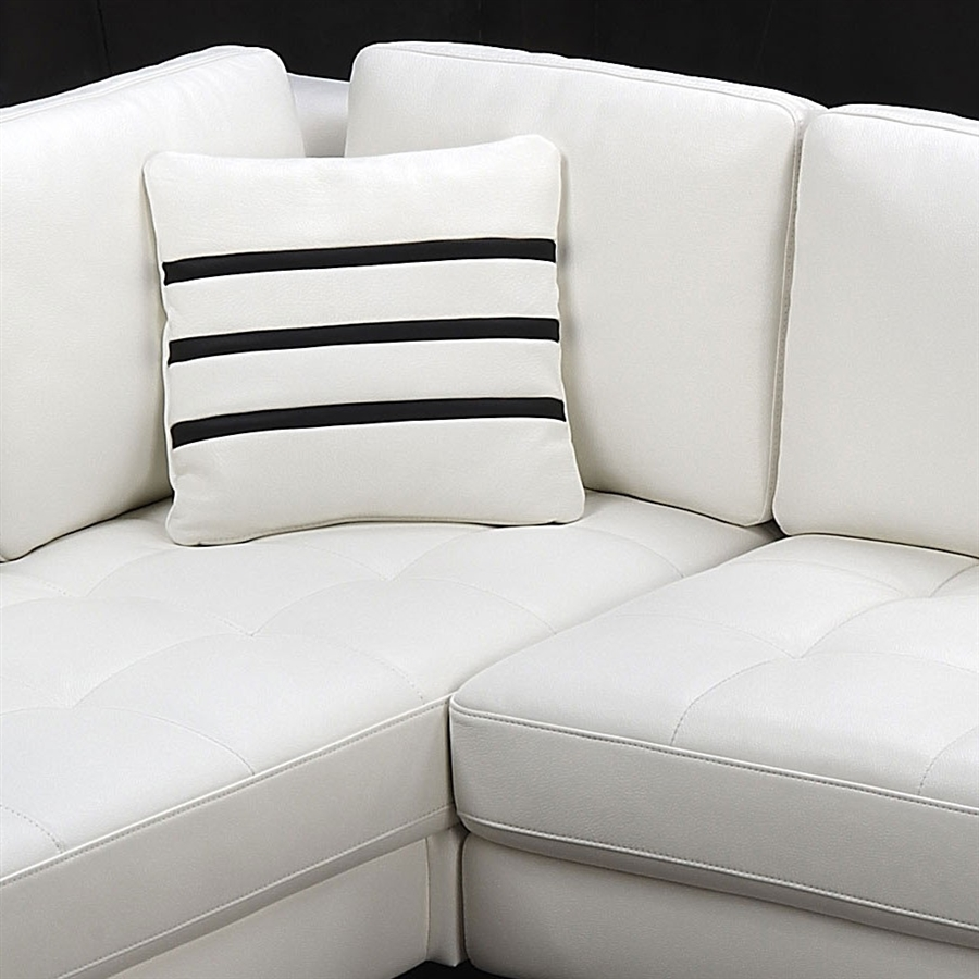 White Leather Sectional Sofa white leather sectional sofa