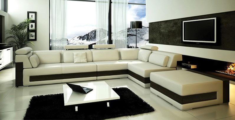 Peachy Modern Ivory Leather Sectional Sofa Creativecarmelina Interior Chair Design Creativecarmelinacom