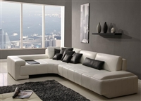 Contemporary Modern White Sectional Sofa TOS-FY805
