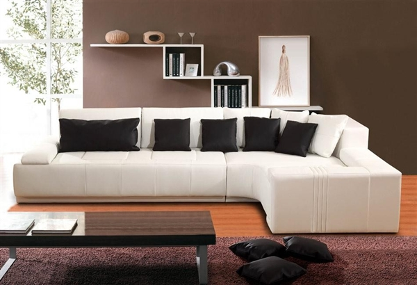 Contemporary Modern White Sectional Sofa TOS-FY805-LF
