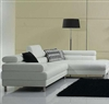 White Leather Sectional Sofa TOS-FY952