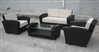 Modern Outdoor 4 Piece Chocolate Wicker Sofa Set TOS-GW0045SET