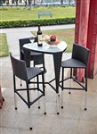Tosh Furniture Black Triangle Bar Set TOS-GW3006SET