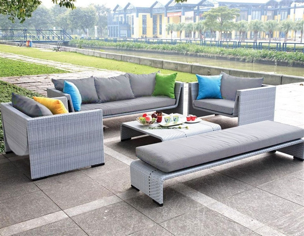 Modern Outdoor Patio Set with Lounge Chaise and Table GW3007SET