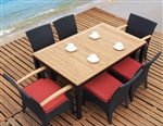Tosh Furniture Dark Brown Dining Set TOS-GW3061SET-A