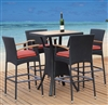 Contemporary Espresso Patio Indoor Bar Set TOS-GW3061SET-C