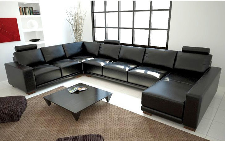 Black Sectional Couches black sectional sofa tos-lf-1001