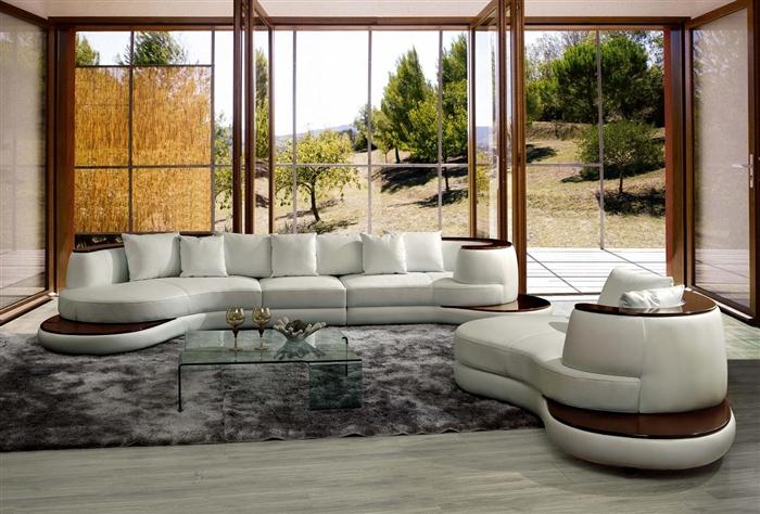 modern white sectional sofa