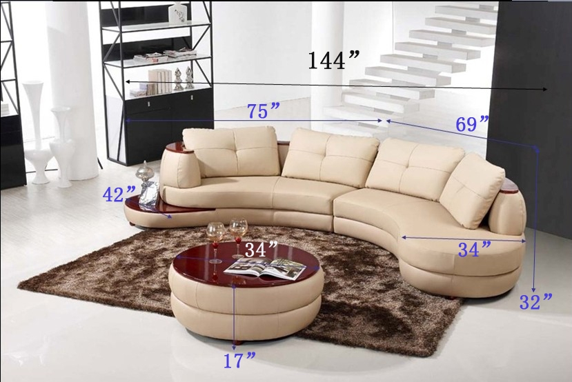 Modern Beige Sectional Sofa Furniture TOSLF108LHER