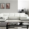 Modern White Bonded Leather Sectional Sofa TOS-LF-2029-BN