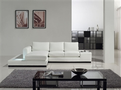 Modern White Compact Leather Sectional Sofa TOS-LF-2029-Comp