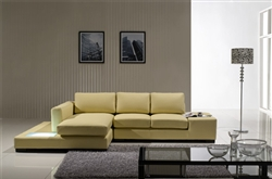 Modern Cream Compact Leather Sectional Sofa TOS-LF-2029-Comp-CR