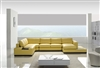 Modern Yellow Leather Sectional Sofa TOS-LF-2029-YEL